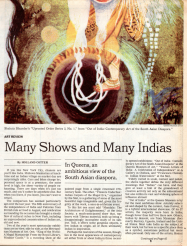 Many Shows and Many Indias by Holland Cotter