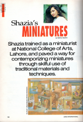 Shahzia's Miniatures by Salima Hashmi