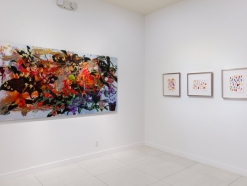 BRINTZ GALLERY, INSTALLATION PHOTO, FLORA EXHIBITION DONALD BAECHLER, ROSS BLECKNER, ANDRÉ BUTZER, PETRA CORTRIGHT, MARC HANDELMAN, JOHN NEWSOM, RACHEL ROSSIN, JULIAN SCHNABEL AND BRIAN WILLMONT