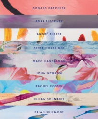 BRINTZ GALLERY, FLORA CATALOG COVER, FLORA EXHIBITION 2019, DONALD BAECHLER, ROSS BLECKNER, ANDRÉ BUTZER, PETRA CORTRIGHT, MARC HANDELMAN, JOHN NEWSOM, RACHEL ROSSIN, JULIAN SCHNABEL AND BRIAN WILLMONT