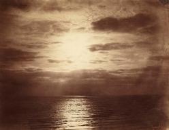 Gustave LE GRAY (French, 1820-1884)  Effet de soleil dans les nuages - Océan, Normandy, 1856-1857  Albumen print from a wet collodion negative