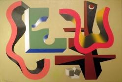 Charles Biederman (1906-2004)  Untitled (Paris May 21/37), 1937  Oil on canvas