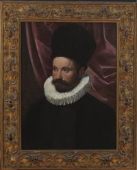 Ippolito Scarsella, called Scarsellino  (Ferrara, ca. 1550-1620)  Portrait of a Gentleman  Oil on canvas