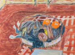 Pierre Bonnard (French, 1867-1947)  Basket of Fruit, 1932  Gouache and pencil on paper
