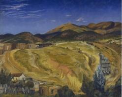 John Sloan (1871 - 1951)  Autumn, Sun on the Range, 1920  oil on canvas