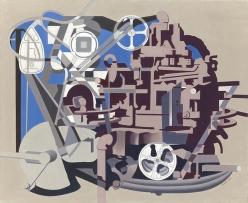 Charles Sheeler (American, 1883-1965) Meta-Mold, 1952 Oil on canvas