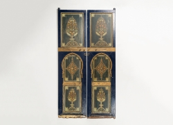 Set of Four Fine and Rare Painted Doors