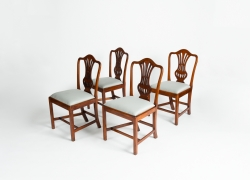 A Set of Four George III Dining Chairs