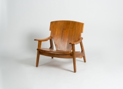 A Pair of Solid Carved Wood Armchairs