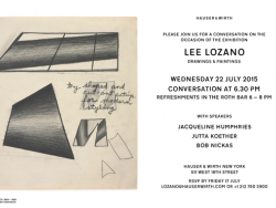 Lee Lozano Conversation