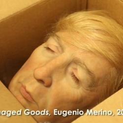 Eugenio Merino Expose à New York et met Trump en Boîte (Eugenio Merino Exhibits in New York and Puts Trump in a Box)