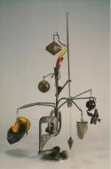 "Robert Hudson 1989 Exhibition Announcement picturing ""Trap Door"" 1989"