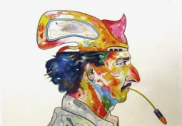 Luis Cruz Azaceta, 'Self-Portrait: Spitting Bullets,' 1980.