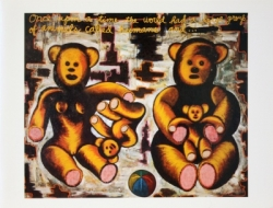 Exhibition announcement picturing Luis Cruz Azaceta, 'The Family: Bed Time Stories' 1989