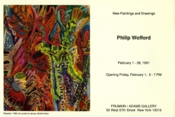 Philip Wofford February 1991 Exhibition Announcement