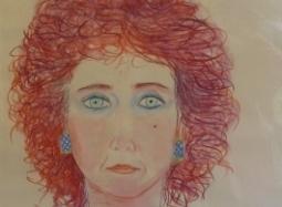 detail, Joan Brown, 'Self-Portrait #2,' 1983.