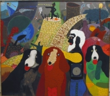 Roy De Forest, 'Watching for the Outriders,' 1976-77