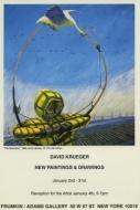 Exhibition announcement picturing David Krueger, The Naturalist 1990