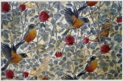 detail, Alain Vaes, 'Roses and Robins,' 2011