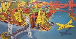 Peter Saul, View of San Francisco 1978-79