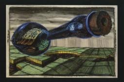 David Krueger 1989 Drawing Gallery Exhibition Announcement