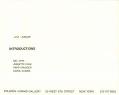 'Introductions' 1988 Exhibition Announcement