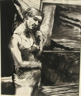 Elmer Bischoff 'Standing Nude – Partially Clothed,' c. 1965