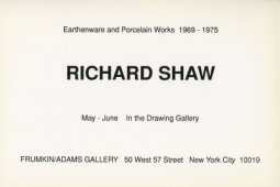 Richard Shaw 1990 drawing gallery Exhibition Announcement