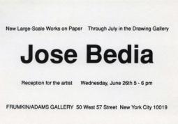 Jose Bedia 1991 Exhibition Announcement