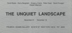 'The Unquiet Landscape' 1980-90 Exhibition Announcement Card