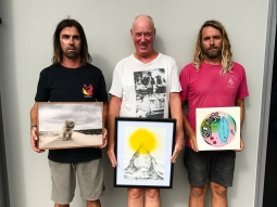 SA Rips, Paul McNeil, James McMilla, Byron Bay Surf Festival Art Show at Lone Goat Gallery