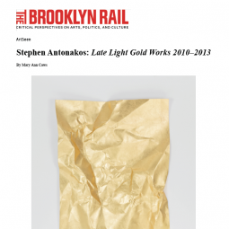 The Brooklyn Rail - Stephen Antonakos: Late Light / Gold Works 2010 - 2013