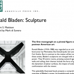 Abbeville -  Ronald Bladen Monograph Press Release