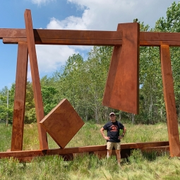 Joel Perlman in Field of Dreams at the Parrish Art Museum