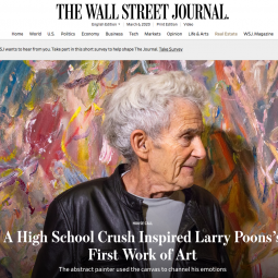 The Wall Street Journal - A Crush That Led To a Brush - Larry Poons