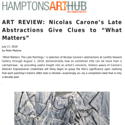 Hamptons Art Hub Review - Nicolas Carone