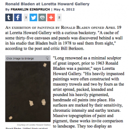 The Sun Review of Ronald Bladen