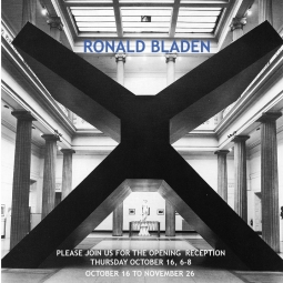 Ronald Bladen: Sculpture of the 1960s & 1970s