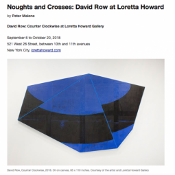 David Row Counter Clockwise Review in Art Critical