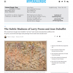 The Subtle Madness of Larry Poons and Jean Dubuffet by Robert C. Morgan