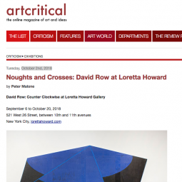 ArtCritical Review of David Row: Counter Clockwise