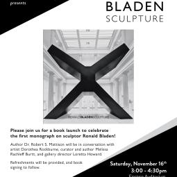 Ronald Bladen Book Launch at NYU