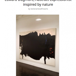"""Edward Dugmore, Abstract Expressionist Inspired by nature"""