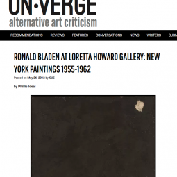 On-Verge Review of Ronald Bladen