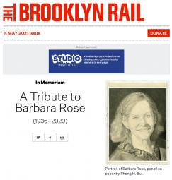 A Tribute to Barbara Rose in the Brooklyn Rail