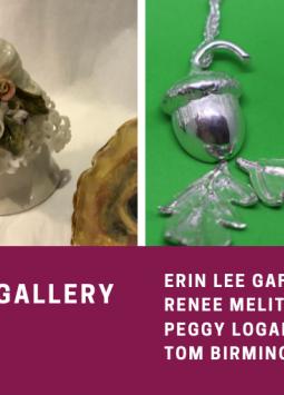 """December 2019 Artists"" | Erin Lee Gafill, Renee Melito, Peggy Logan, Tom Birmingham"