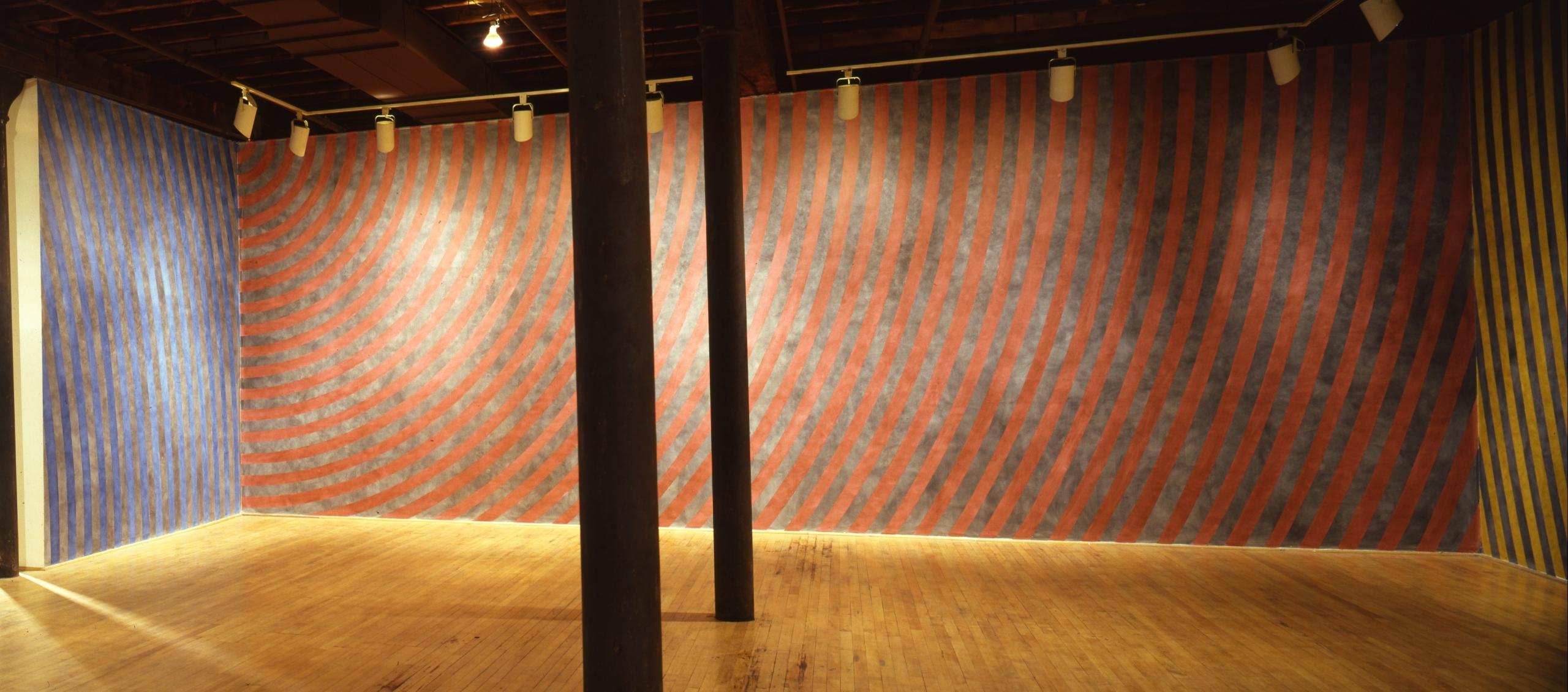 Installation view at Rhona Hoffman Gallery, Sol LeWitt, New Wall Paintings, 1986
