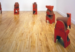 Mel Kendrick: Red Blocks
