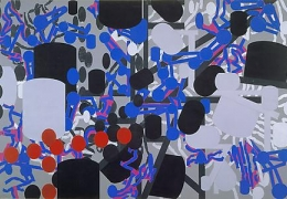Barry Le Va: Ink on Paper, Cut and Glued to Ink on Paper 1983 - 1988