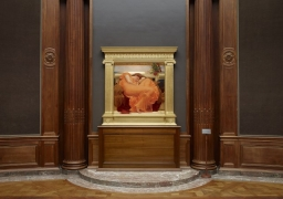"""Flaming June,"" by Frederic Leighton, on display at The Frick Collection in New York in 2015 (courtesy of The Frick Collection)"